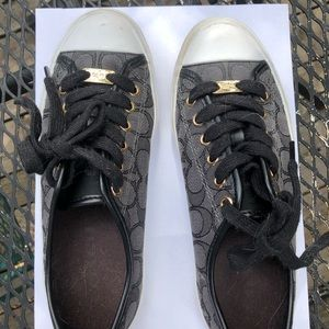 Coach black and grey women's Empire sneakers